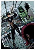 She-Hulk and the Wasp Show off Their Female Muscle by muscle-fan-comics
