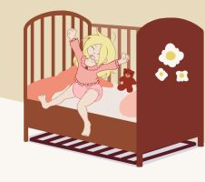 Lulu wakes up by The-Padded-Room