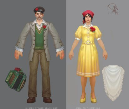Allods Online: May Costume Civilian by Sokil-Su