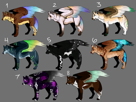 Winged Wolf Adoptables CLOSED 0/8 by Saiyan-Paws-Adopts