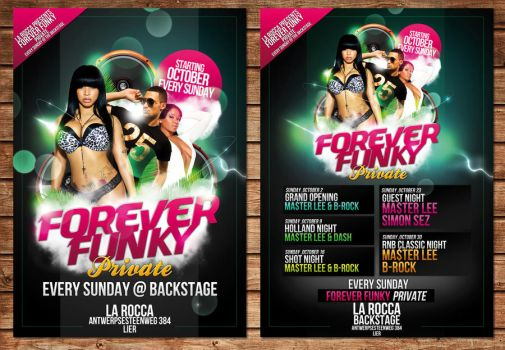 forever funky flyer party by Adriano09