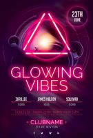 Glowing Vibes Flyer by styleWish