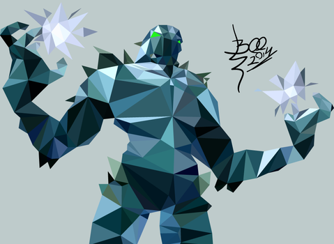 Low Poly Artwork - Killer Instinct Glacius by AkumaNoRitomi