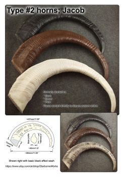 Jacob horns datasheet (Type #2) by StarborneWorks