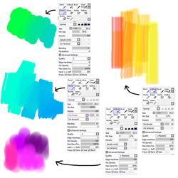 Brush settings for PaintTool SAI by M42NGC1976