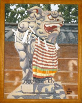 Japanese stone lion by tommyb709