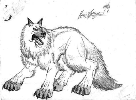 the white wolf by TheWolfMaria
