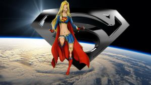Supergirl Wallpaper In Space 5 by Curtdawg53