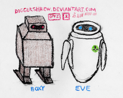 BOXY and EVE by DiggerShrew