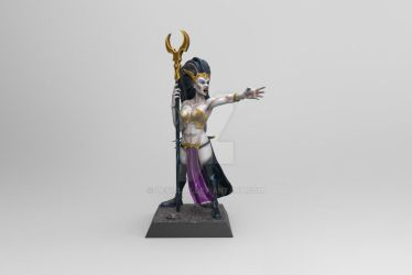 Dark Elf Test sculpt render