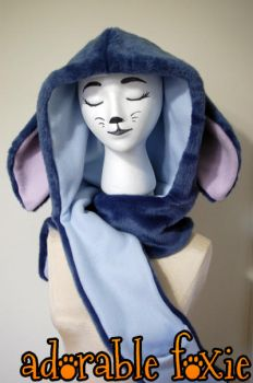 Stitch Inspired Hooded Scarf by crssafox