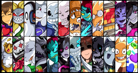 Undertale - Main Characters by RicksterTheTrickster