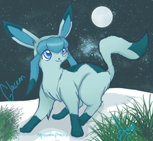 Glaceon by Aquawaterphoenix