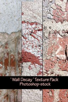 Wall Decay- Texture Pack by photoshop-stock