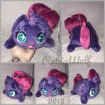 BronyCon'18- MLP Tempest Chibi/Roll/Stacking Plush by RubioWolf