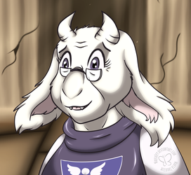 Toriel and the Ruins by MaeraFey