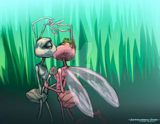 Flik and Atta by ZetsubouZed