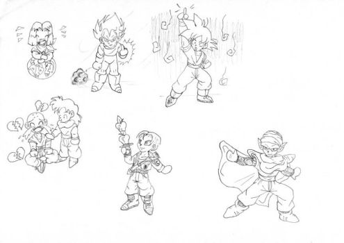 DBZ chibis -oldie- by Claudia-C18