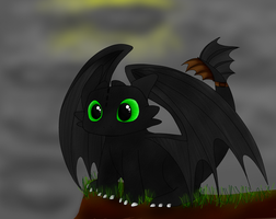 Toothless - Chimuelo by 221bee
