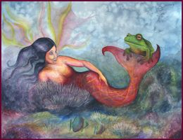 The Frog and The Mermaid Faery by DragonTreasureArt