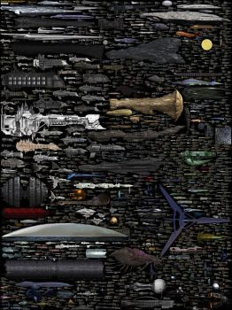 Size Comparison - Science Fiction Spaceships by DirkLoechel