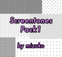 Screentones Pack1 by mizukoiuchi