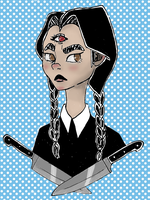 Wednesday Addams by succultist