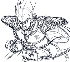 King Vegeta Rough by Zenigeba