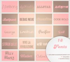 18 Fonts by untilIseeyouagain