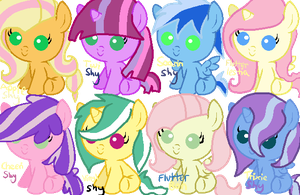 Fluttershy Shipping Adopts by memeoverlord