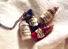 Bottle Potions by WaterGleam