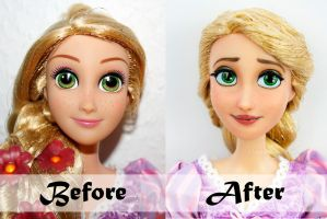 Disney Rapunzel Doll Repaint | Before-After by claude-on-the-road