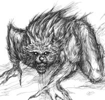 Lycan wolf by GBSartworks