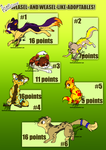 Paintlicious' Weasel-Adoptables! by Paintlicious