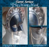 Tarot - The Moon Necklace Mask by Angelic-Artisan