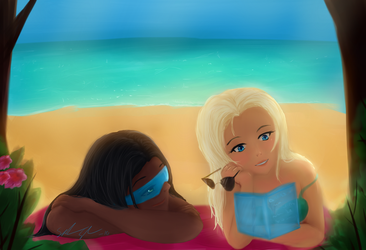 Mercy and Symmetra - Bookfun by Pureangelz