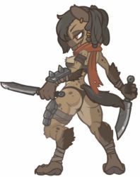 MonsterGirl_007 Gnoll Thief by MuHut