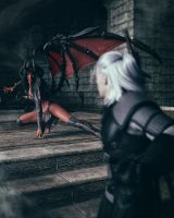 Want to play with me Witcher? by Kayleyss