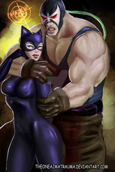 Catwoman And Bane by THEONEAJMATRAUMA