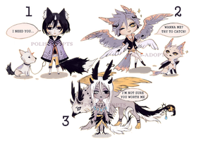 [CLOSED] adopts auction - talking characters by Polis-adopts