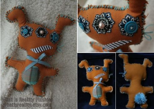 Upcycled Dog-eared Donny Monster Plush by whatisrealityplush