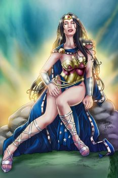 Wonder Woman in Royal Garb by voltesfibz