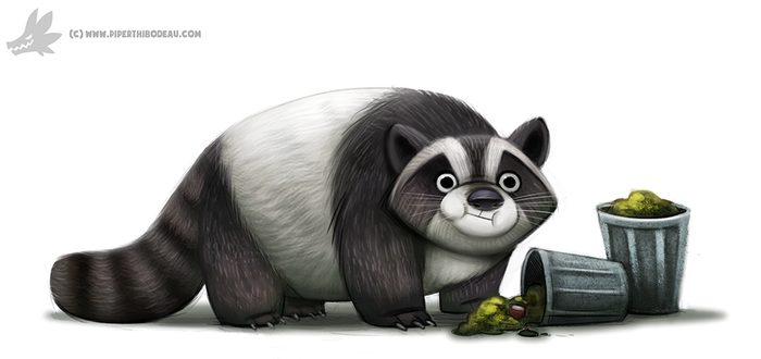 Daily Paint #1012. Trash Panda by Cryptid-Creations