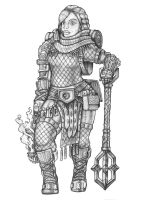 [COMMISSION] Luella - Dwarf Cleric by s0ulafein