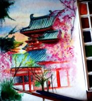 Heian Shrine, Kyoto - Last WIP by Musiriam