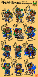 Rulers of Mexico-Tenochtitlan, chibi-chara ver. by nosuku-k