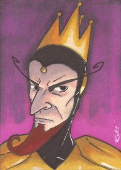 The Monarch Sketch Card by Ross-A