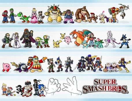 Super Smash Bros. by ZappaZee