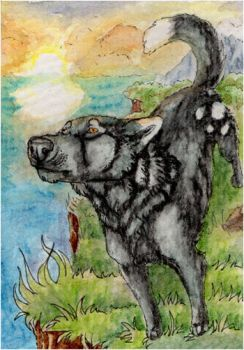 ACEO: ZulayaWolf by SaQe