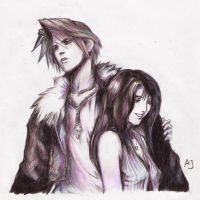 Squall and Rinoa by betablizk